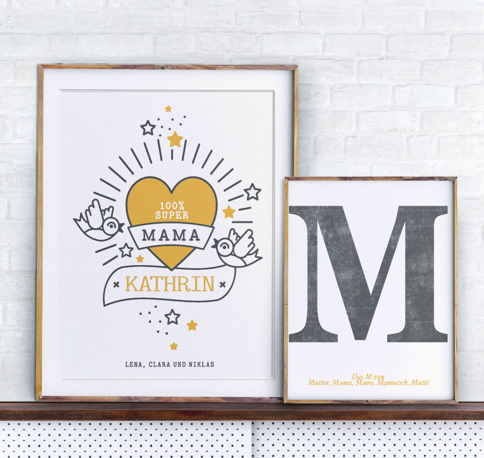 Selbstgestaltete Poster zum Mutter- und Vatertag   Printcandy
