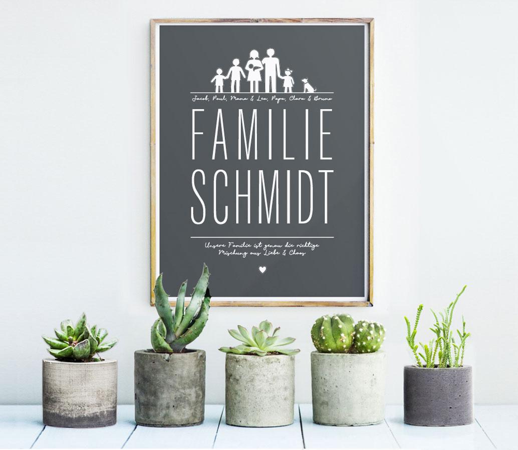 Familien Poster personalisieren und selber gestalten | Printcandy