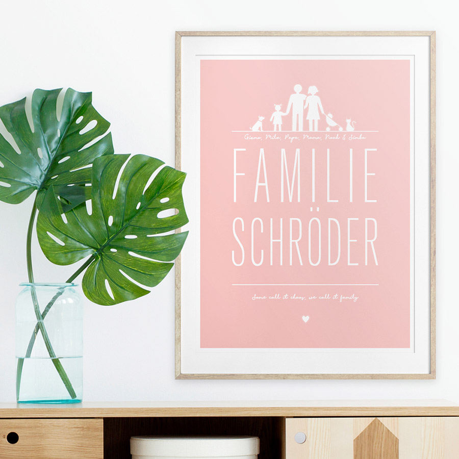 Familie Poster - Personalisierter Poster - Printcandy