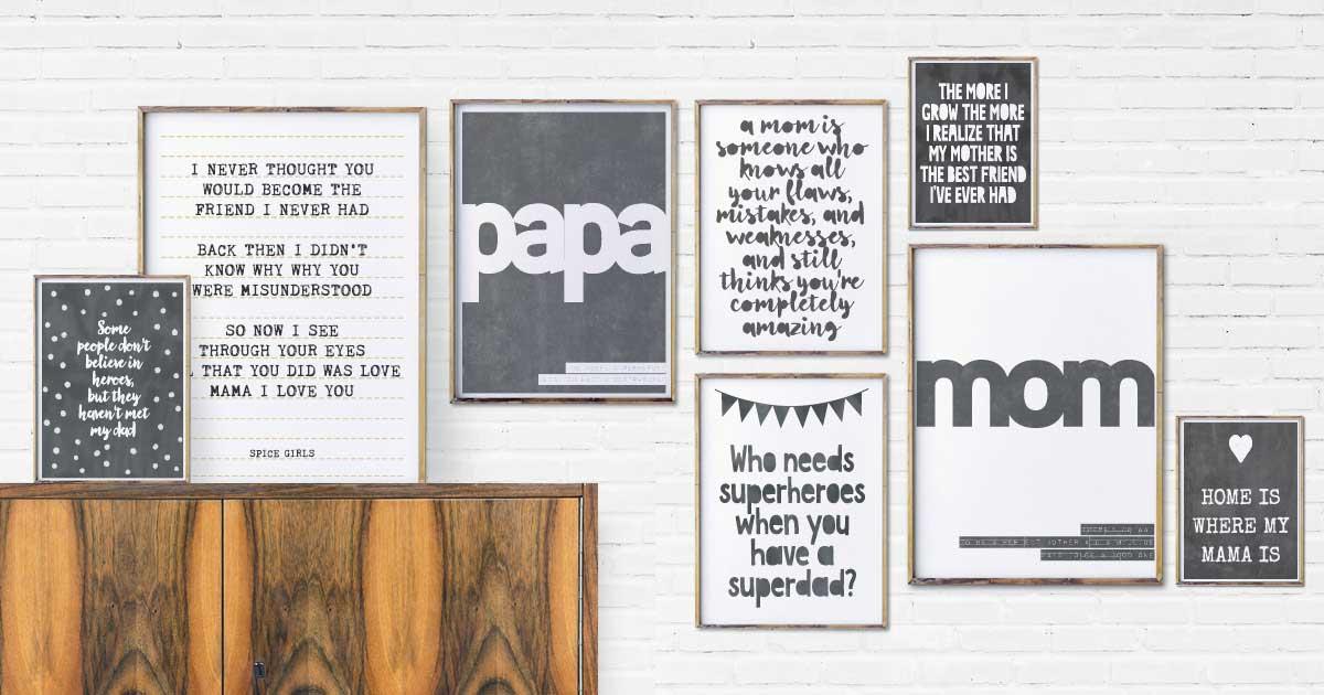 Personalisierte Geschenke zum Muttertag und Vatertag