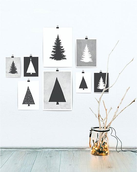 Dekoration zu Weihnachten - Plakat Weihnachtsbaum - Printcandy