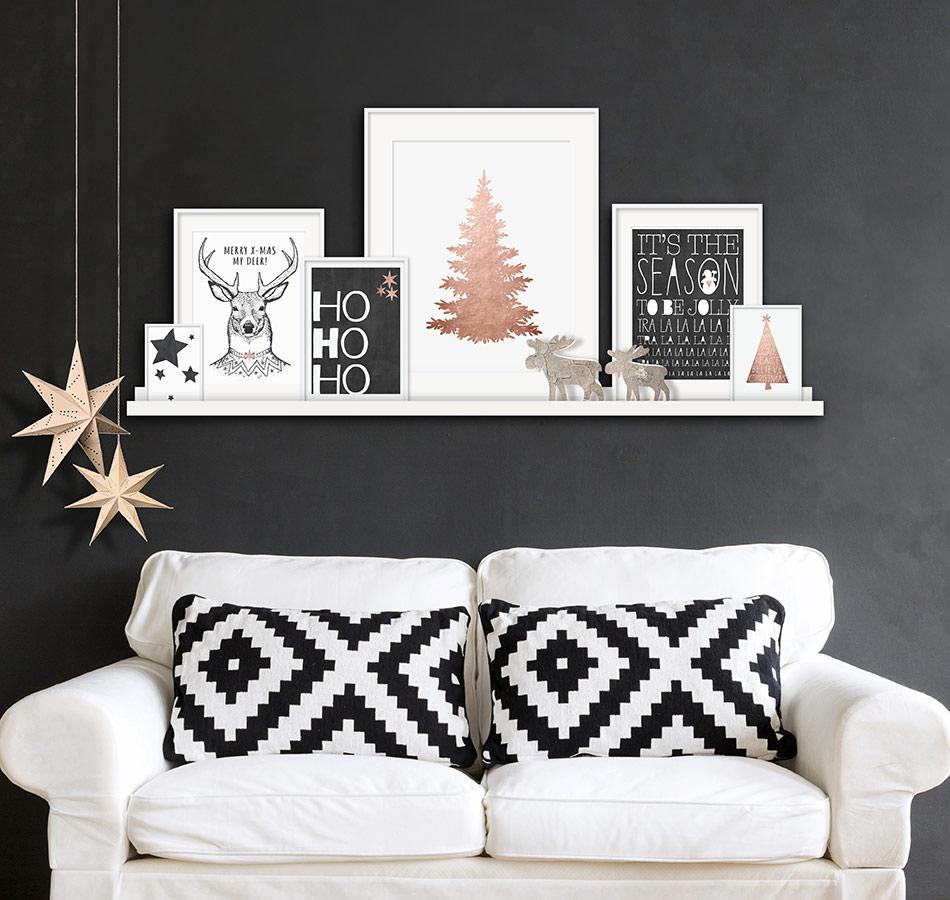 Weihnachts Poster selbst gemacht für Weihnachtsdekoration-easy und hipp mit - Printcandy