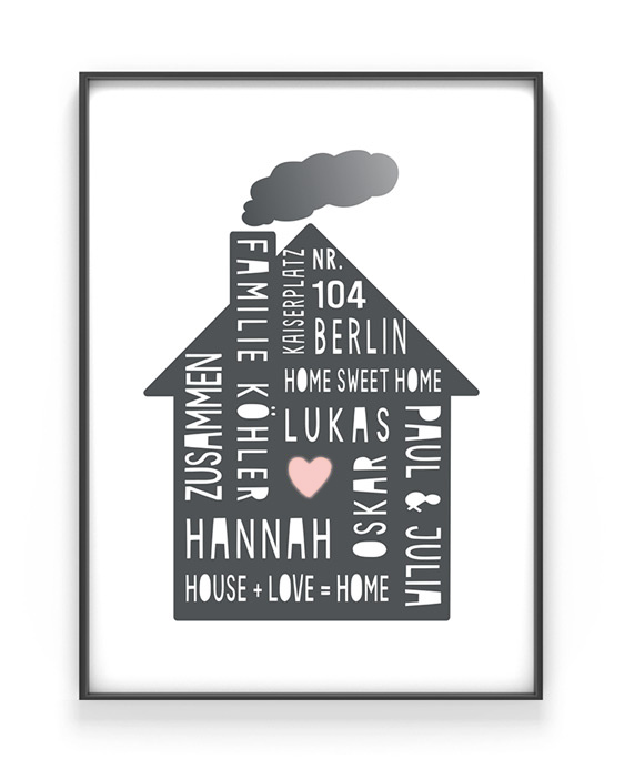 home sweet home poster jetzt personalisieren printcandy. Black Bedroom Furniture Sets. Home Design Ideas