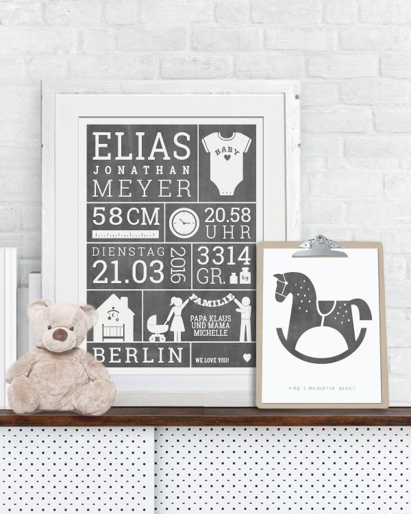 Poster Selber Machen: Baby Geburtsposter Selbst Gestalten In 5 Min. +SEI KREATIV