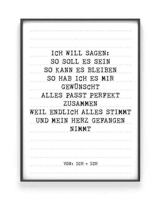 Lieblingslied Poster zum Love | Personalisiert | Schwarz Weiss mit Rot