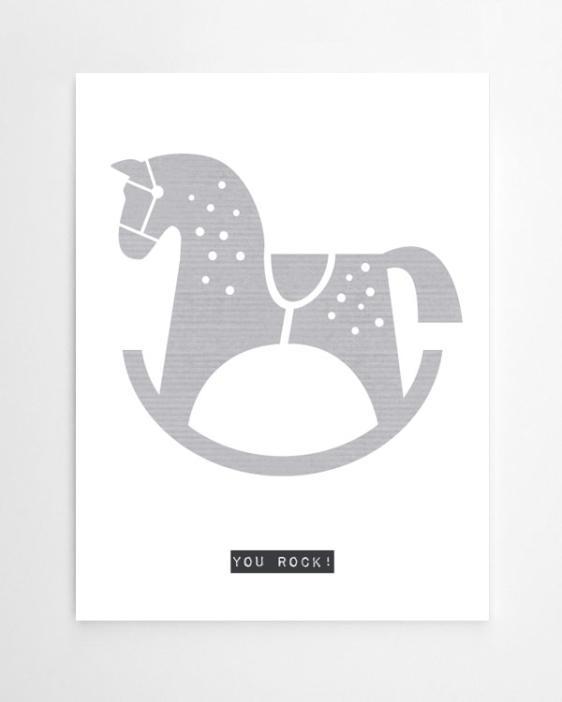 Personalisierter Artprint Schaukelpferd für Kinderzimmer. Personalisierter Poster / Kunstdruck online selber machen bei Printcandy