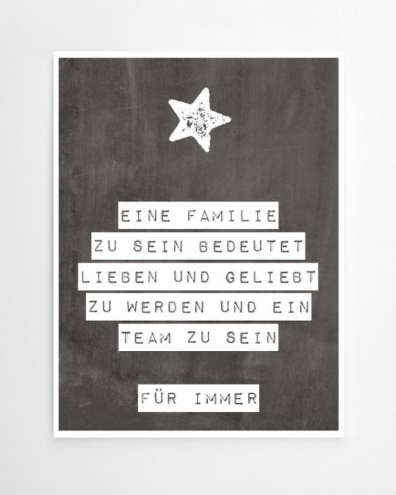 stern print mit deinem text selbst gestalten design quotes. Black Bedroom Furniture Sets. Home Design Ideas