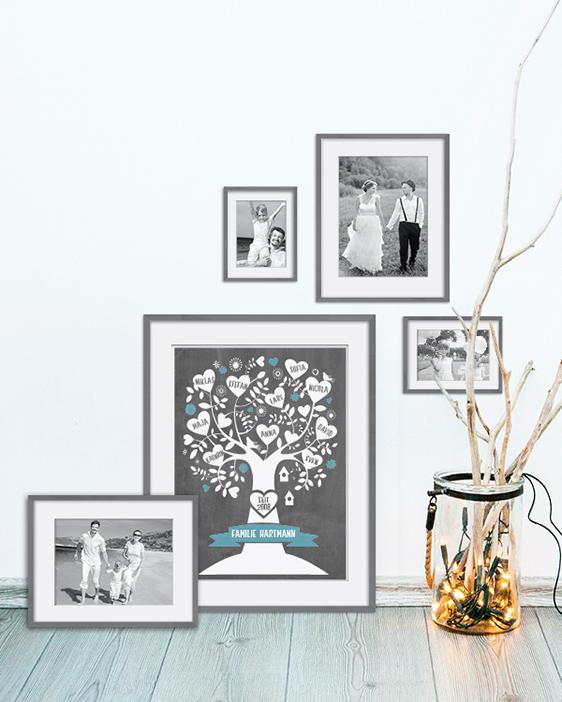 Familienstammbaum Poster | Personalisiertes Familien Poster zur Hochzeit | Printcandy