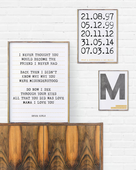 Lieblingslied Poster | Buchstaben Poster | Special Date Poster | Personalisiert | Printcandy