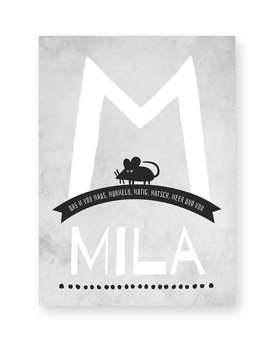 Namensprint Tiere | Personalisierter ABC Tiere Poster mit Buchstabe | Printcandy