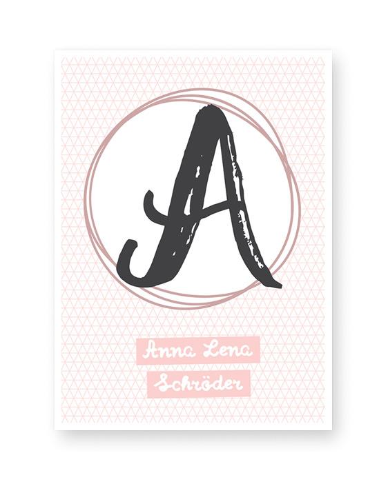 Kinderposter Buchstabe | Personalisierte Buchstaben Poster in Schreibschrift | Printcandy