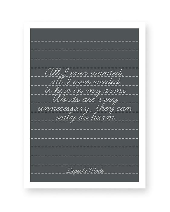 Personalisiertes Lieblingslied Poster | Liedtext auf Poster drucken lassen | Printcandy