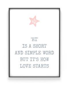 Stern Print mit deinem Text für Vatertag  Personalisiert   Printcandy
