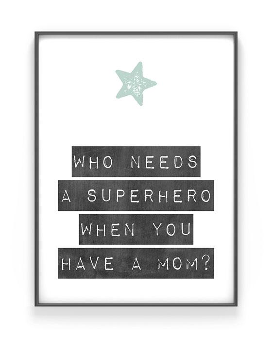 Stern Print mit eigenem Text | Personalisiert | Muttertag Poster | Printcandy