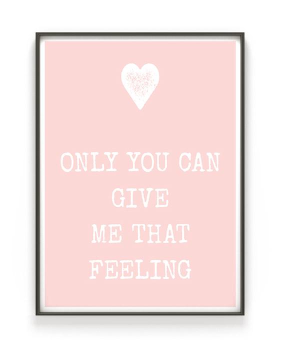 Text mit Herz Poster | Personalisiertes Liebes Geschenk | Printcandy