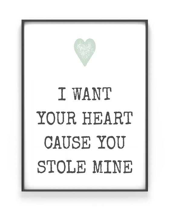 Text mit Herz Poster | Personalisiertes Print | Printcandy