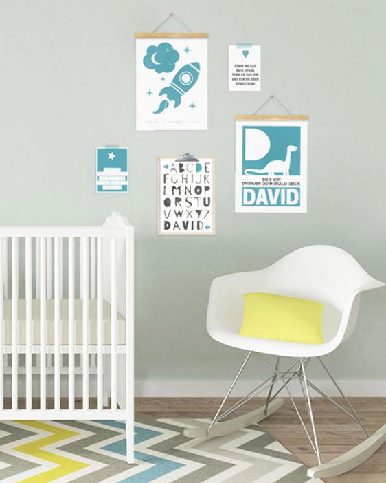 Namensposter Junge | Personalisierbares Poster mit Buchstaben | Printcandy