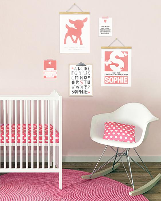 Namensposter Mädchen | Personalisierte Poster Buchstaben | Printcandy