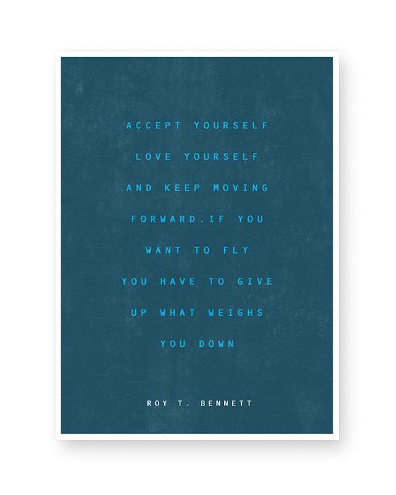 Text Poster mit eigenem Spruch Zitat oder Songtext - selbst gestalten bei Printcandy