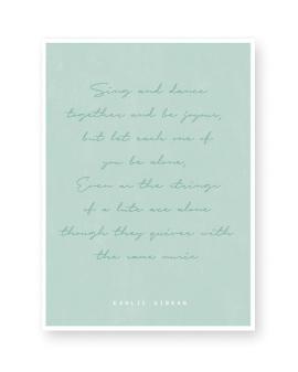 Text Poster mit Spruch, Zitat oder Songtext selbst gestalten bei Printcandy- versandkostenfreie Lieferung
