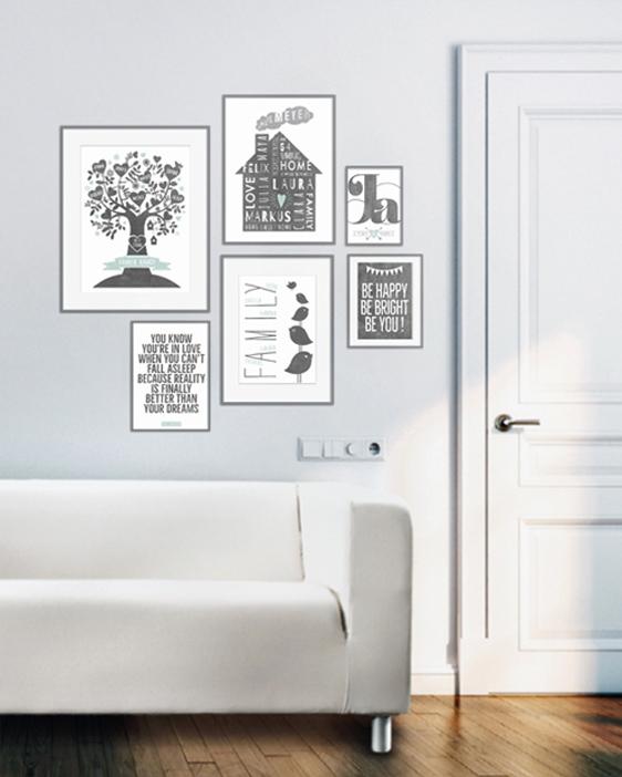 Personalisierter Poster mit Rahmen Wandcollage | Printcandy