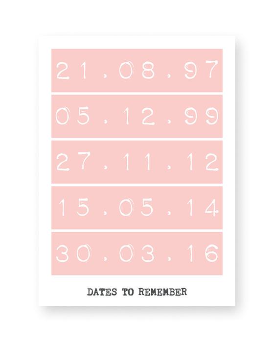 Special Dates Poster | Personalisierte Poster mit besondere Daten | Printcandy
