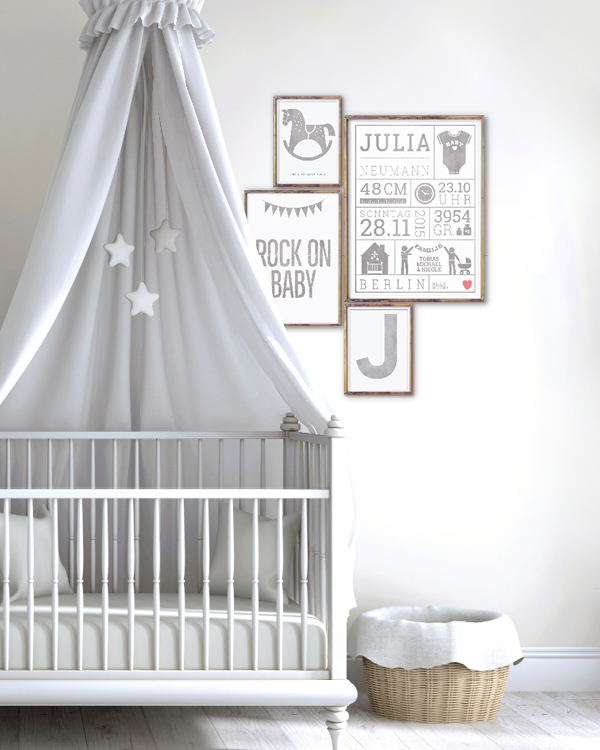 wandgestaltungsideen f r das babyzimmer. Black Bedroom Furniture Sets. Home Design Ideas