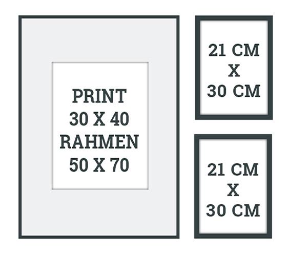 Beispiele und Muster Schablonen eine schöne Wandcollage zu gestalten | Printcandy