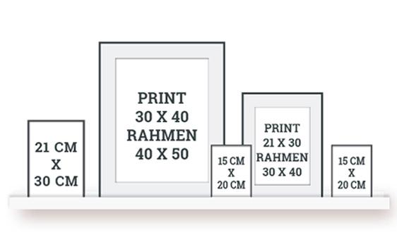 Wandcollage selber gestalten | Praktische Tipps eine schöne Wandcollage zu gestalten | Printcandy