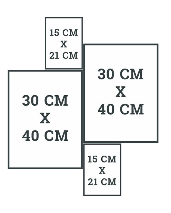 Wandcollage selber gestalten | Tipps und Muster Schablone | Printcandy