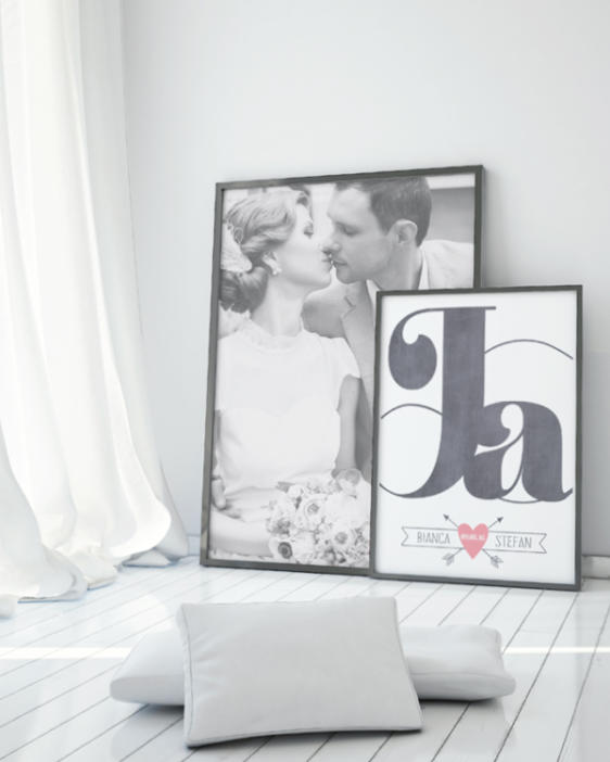 Ja ich will Poster -Dekoration Schlafzimmer -Prints und Poster online selber machen bei Printcandy