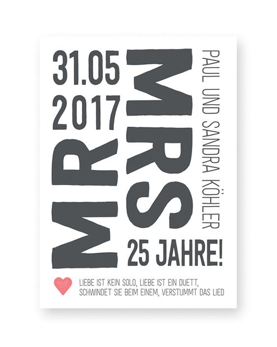 Mr and Mrs Poster - Personalisierter Kunstdruck online selber machen bei Printcandy
