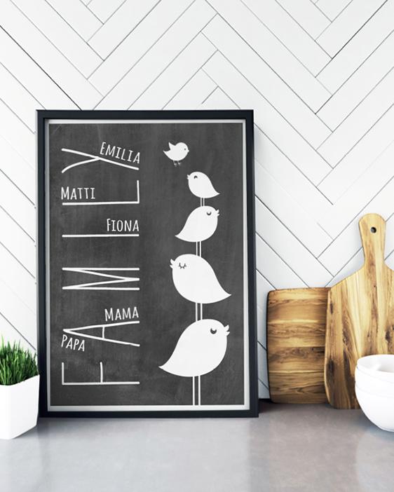 Personalisiertes Familien Poster selbst gestalten | Printcandy