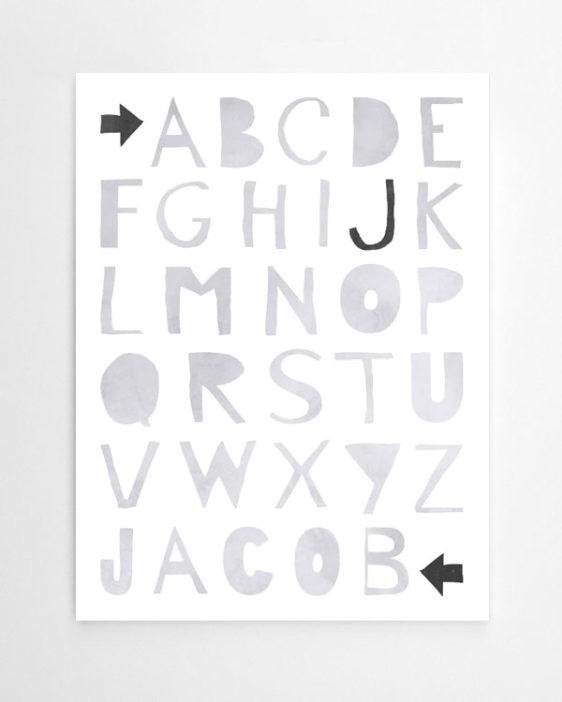 ABC Poster   Kinderzimmer Poster Online Selber Machen Bei Printcandy