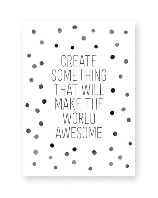 Text Konfetti Artprint - Monochrom Schwarz Weiß Art-Prints und Text-Poster online selber machen bei Printcandy