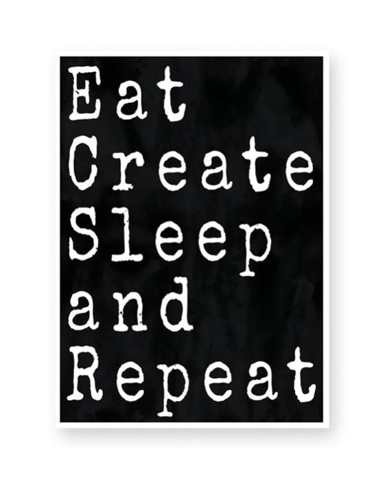 Poster mit Deinem Zitat - Monochrom Schwarz Weiß Art-Prints und Text-Poster online selber gestalten bei Printcandy