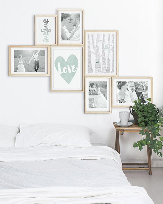 Love Poster | Personalisiert | Mint Grün | Wanddekoration Schlafzimmer