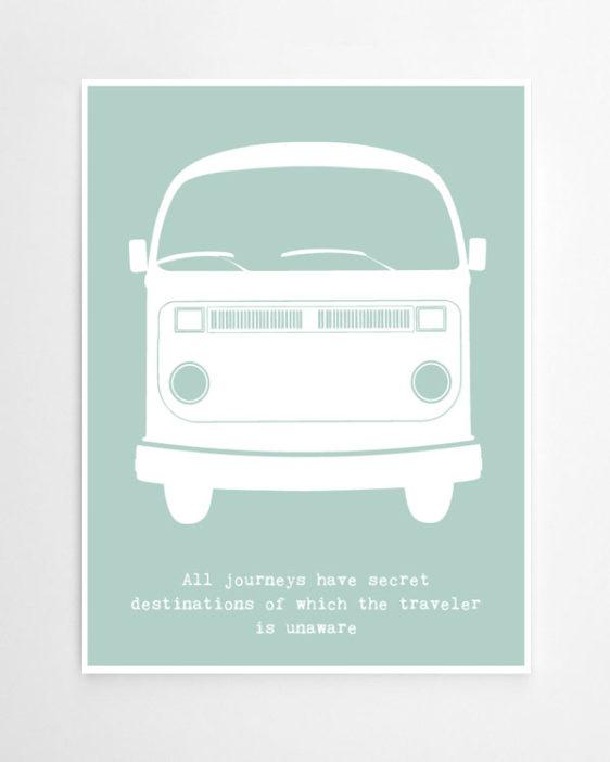 Retro Bus - Personalisierter Art-Prints online selber machen bei Printcandy -1