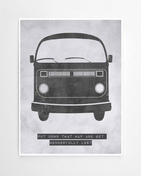 Poster Selber Machen: Retro Bus Poster-selbst Gestalten Mit Deinem Text. Sei