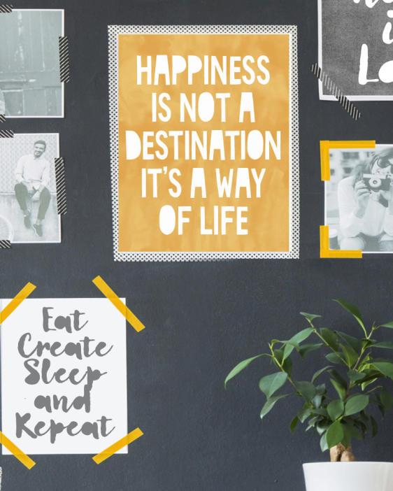 Wandcollage mit Schwarz-Weiss Zitat-Poster - Art-prints, Text-prints und Zitat Poster online selber gestalten bei Printcandy