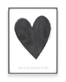 Art Print Herz mit eigenem Text | Personalisiert | Printcandy