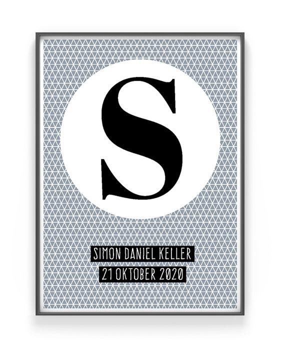 Buchstaben Poster | Personalisierte Poster mit Namen | Printcandy
