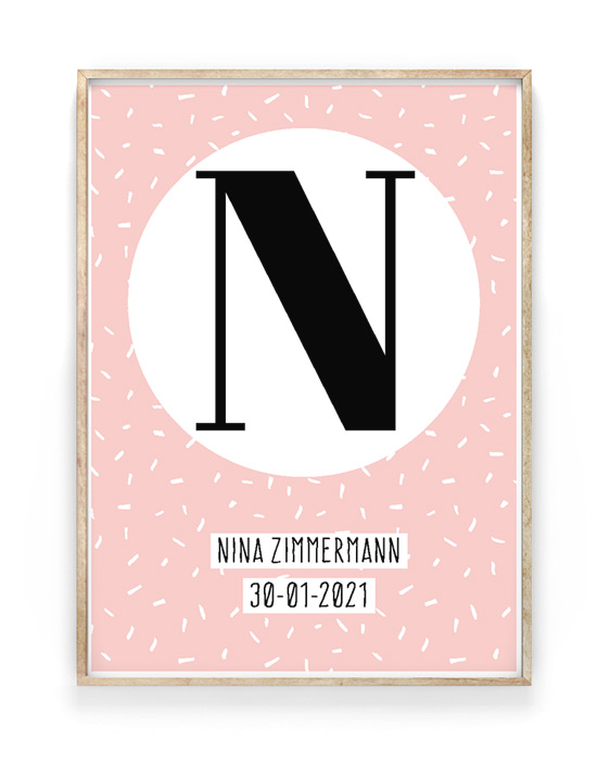 Buchstaben Poster | Personalisierte Kinder Poster mit Namen | Printcandy