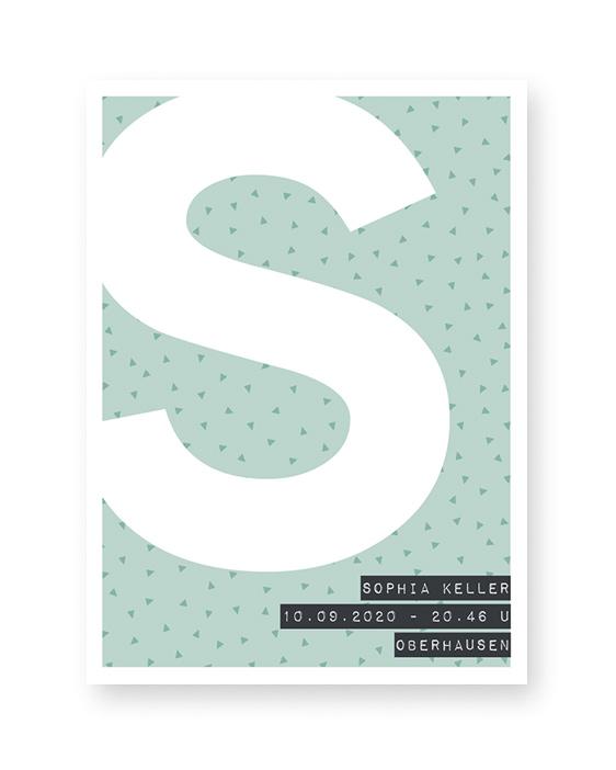 Buchstaben Print | Personalisierter Text-Poster | Printcandy