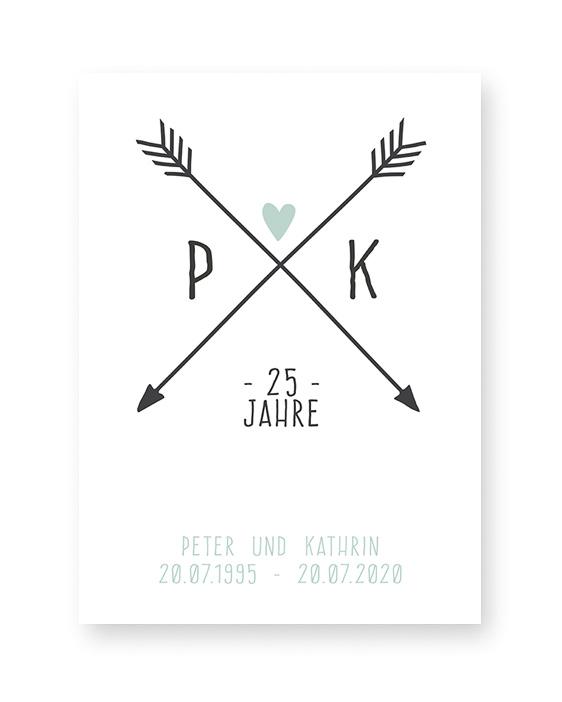 Personalisierte Hochzeitsposter   Poster Love Initials   Printcandy