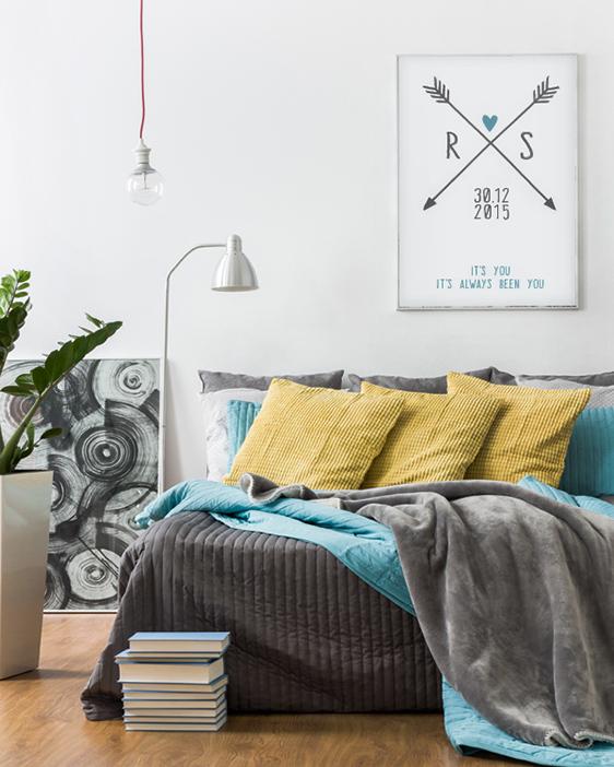 Poster Love Initials - Family-Prints und Poster online selber machen bei Printcandy