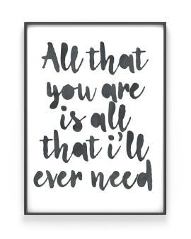Poster mit deinem Zitat | Personalisiert | Schwarz Weiss| Printcandy