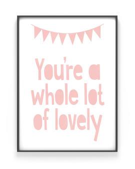 Print Wimpelkette mit Deinem Text | Personalisiert | Rosa
