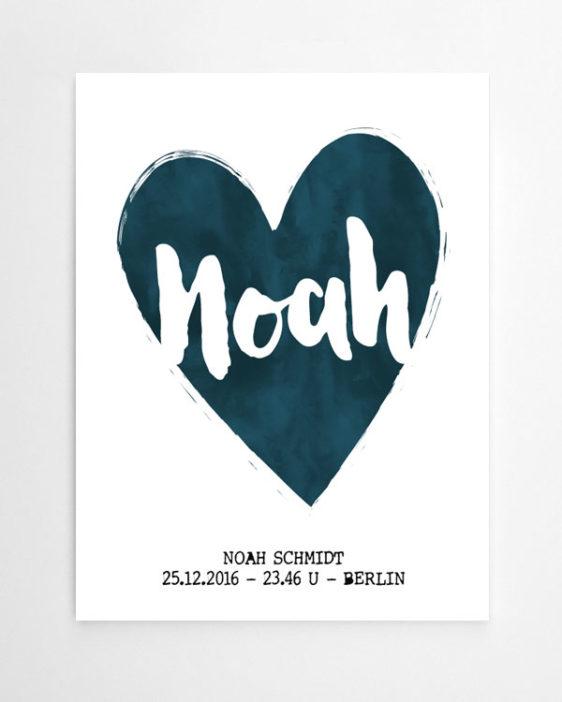 Art Print Herz mit eigenem Text - Art-Prints und Text-Poster online selber machen bei Printcandy