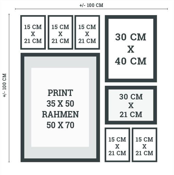 wie plane ich eine wandcollage hier findest du hilfe. Black Bedroom Furniture Sets. Home Design Ideas